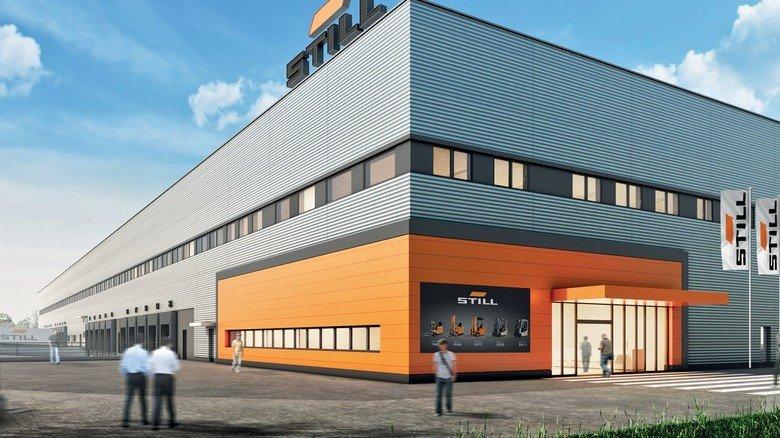 Neubau: Das Hamburger Logistikzentrum von Still.