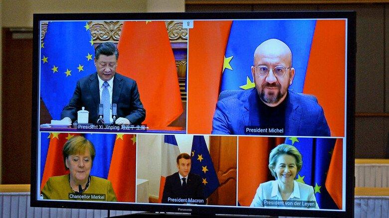 Video-Gipfel: Abschluss der Verhandlungen zwischen der EU und China zum Investitionsabkommen CAI.