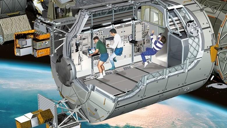 Forschen im All: 16 Mal am Tag umrunden die Astronauten an Bord der ISS die Erde. Foto: ESA-NASA