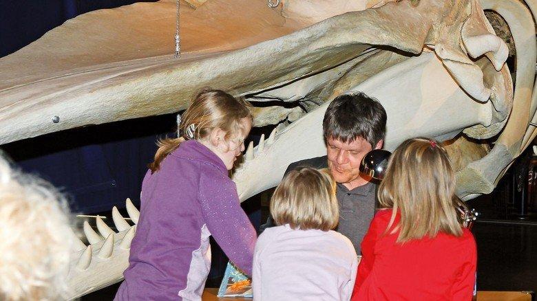 Lesung für Kinder im Wattenmeer-Besucherzentrum.