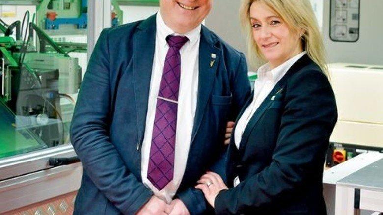 Stolz auf ihr Unternehmen: Filomena Rios und Wilfried Neuschäfer. Foto: Scheffler