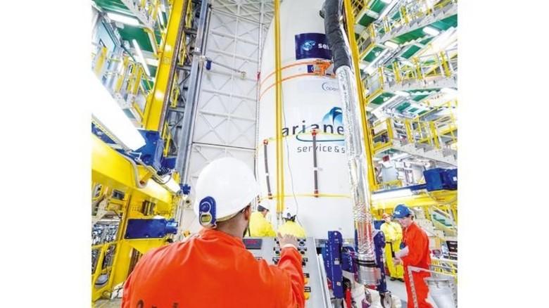 """In der Ariane-Rakete, die """"Sentinel 2B"""" ins All brachte, steckt ebenfalls Technik aus dem Südwesten. Foto: ESA"""