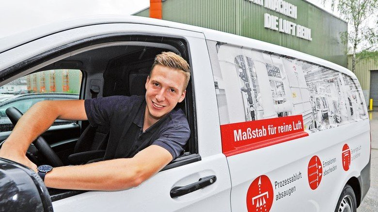Immer freundlich: Servicetechniker Steffen Rehm ist zur Stelle, wenn der Kunde ein Problem hat. Foto: Mierendorf