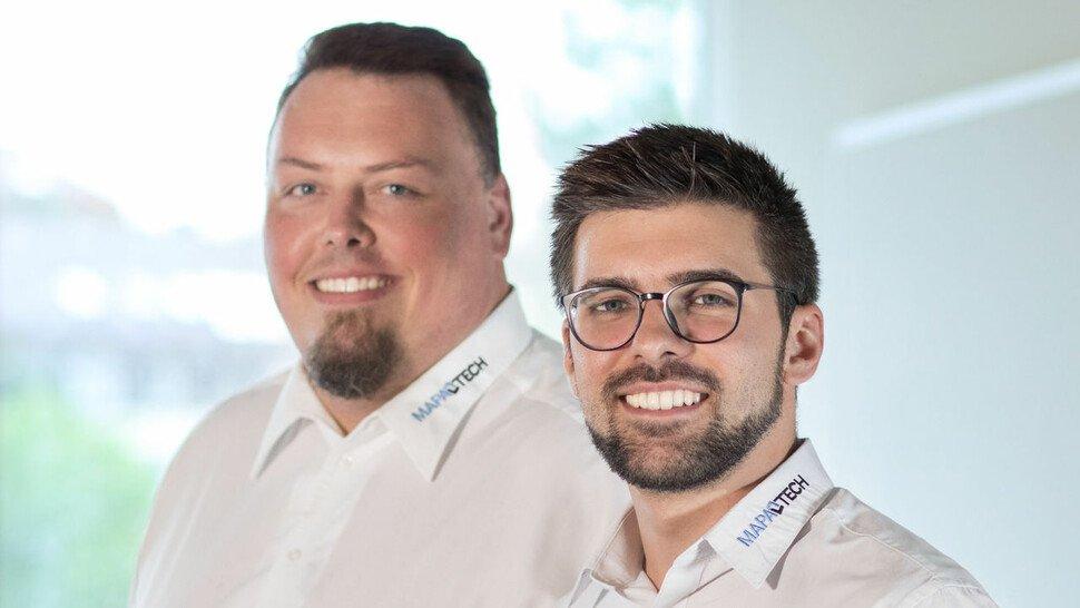 """Sven Illing und Lars Federau (rechts), Gründer und Geschäftsführer Mapa-Tech: """"Individuell und dynamisch auf dem Weg zur Industrie 4.0."""""""