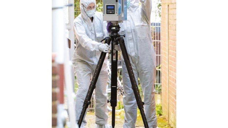 Hightech aus dem Allgäu: Nach einem Mord in Hamburg baut die Kripo einen 3-D-Scanner auf. Foto: dpa