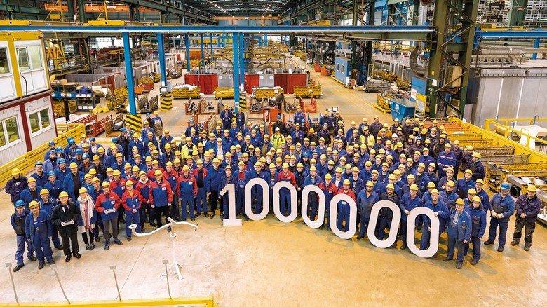 Stolze Leistung: Eine Million Rohre wurden seit Anfang 2010 für die Meyer Werft gefertigt.