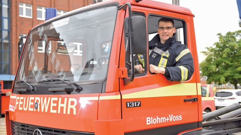 Alter Hase: Der Hamburger hat mehr als 30 Jahre Feuerwehr-Erfahrung.
