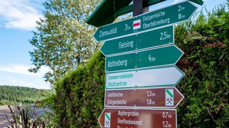 Attraktive Lage: Das Besucherbergwerk liegt in der Wander- und Skiregion Erzgebirge. Foto: Roth