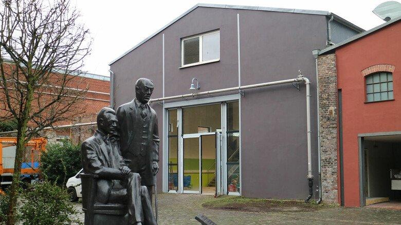 Mittendrin: An zentraler Stelle auf dem Gelände der Elbershallen wird das Technikzentrum im Sommer öffnen.