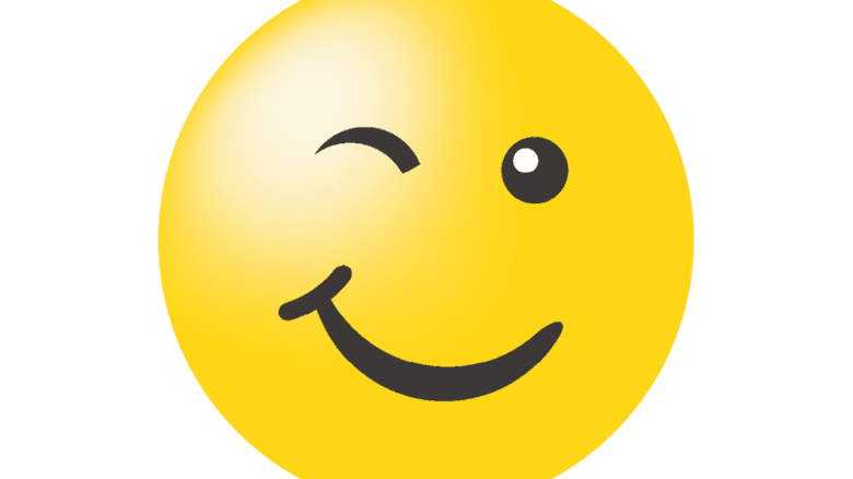 Zwinkerndes Emoji: Passendes Symbol für unser digitales Leben. Illustration: Adobe Stock