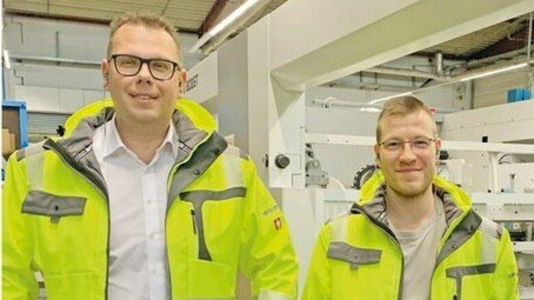 Eingespieltes Team – auch beim Thema Weiterbildung: Gabriel Börner (rechts) und Betriebsleiter Zeliko Jurić.