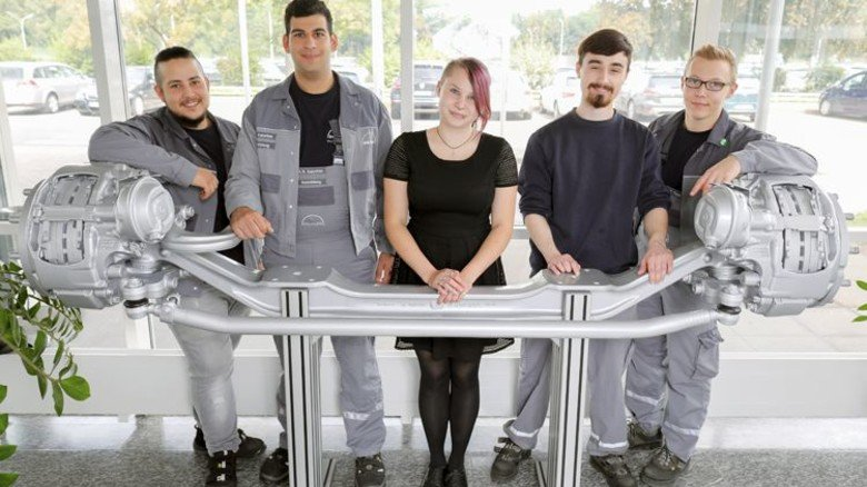 Freuen sich auf die Lehre: Anil-Kemal Öztas, Hayg-Rupen Kalustian, Denise Pulz, Maurice De Vree und Patric Timm (von links). Foto: Schaarschmidt