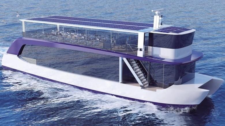 Emissionsfrei: Ein Solarschiff von Ostseestaal. Foto: Ostseestaal