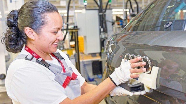 Audi in Mexiko: In dem Land in Mittelamerika arbeiten die Menschen laut OECD-Vergleich am längsten. Foto: Werk