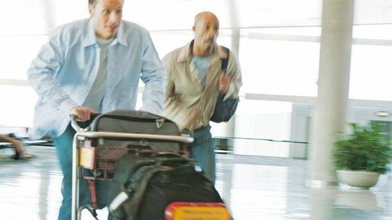 Ärgerlich: Manche Urlauber verpassen ihren Flug ganz knapp … Foto: Getty