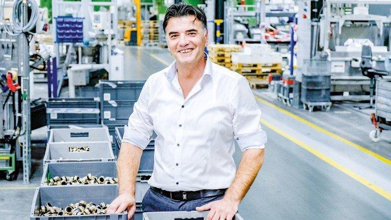 Erfolgstyp: Samir Balic macht Karriere bei der Installationstechnik-Firma Viega.