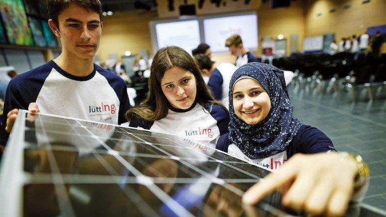 Sonnenenergie: Eine Schülergruppe befasste sich mit der Optimierung von Solarpaneelen.