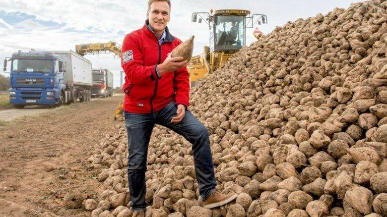 Gutes Geschäft: Landwirt Johannes Brünker während der Kampagne. Foto: Straßmeier