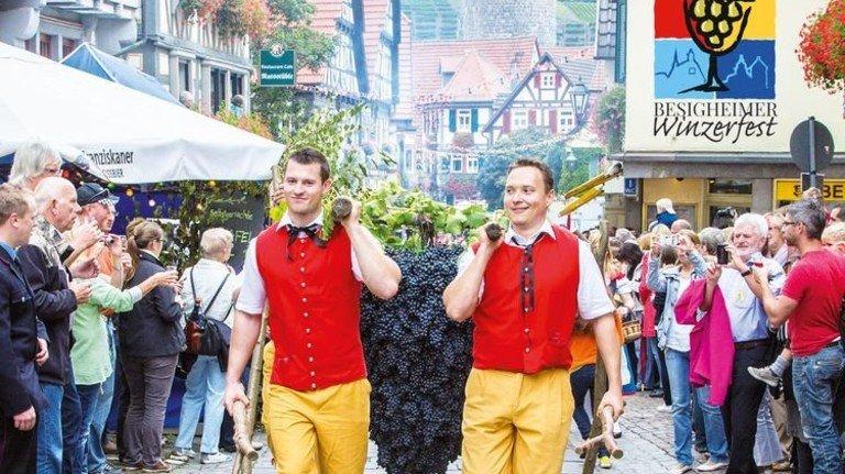 Besigheim: Festumzug der Winzer am Sonntag. Foto: Veranstalter