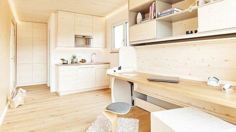 Effizient: Im Mini-Haus wird jeder Quadratmeter sinnvoll genutzt. Foto: Hantschel