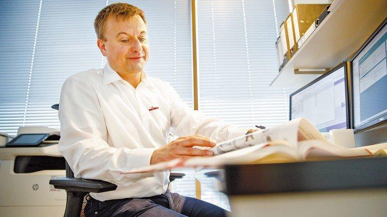 Einlkäufer: Michael Fichter bestellt für die Firma alles vom Werkzeug bis zum Büromaterial.