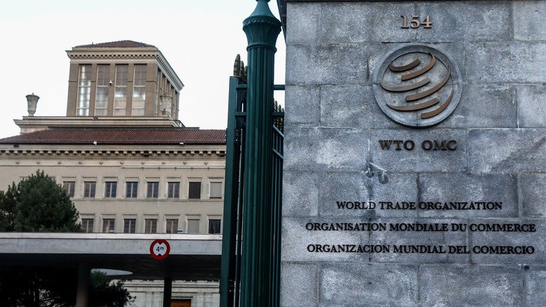 Gebäude der Welthandelsorganisation (WTO) in Genf.