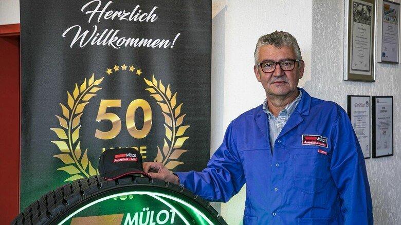 Will stets auf dem neusten Stand der Reparaturtechnik sein: Kay-Uwe Mülot, Geschäftsführer Mülot Autotechnik Reifen.
