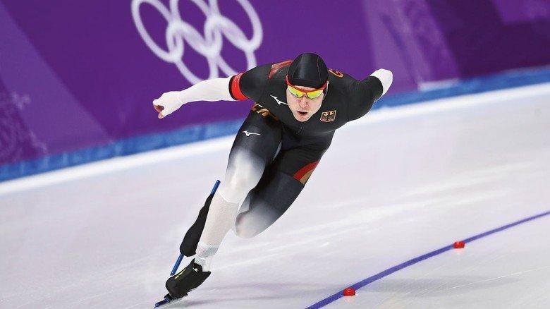 Kufenflitzer: Deutscher Eisschnellläufer Nico Ihle bei Olympia in Pyeongchang.