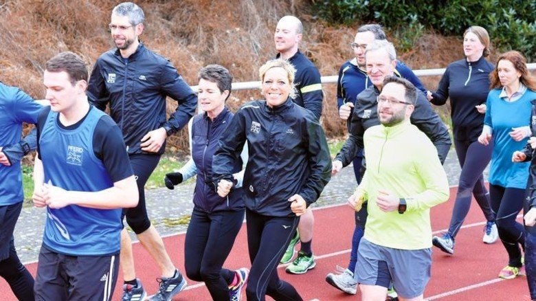 Beim Lauftraining: Alle Angebote sind professionell organisiert. Foto: Wirtz