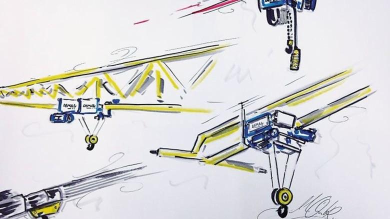 Zeichnung vom Feinsten: Geschäftspartner und Kunden sind begeistert. Foto: Werk