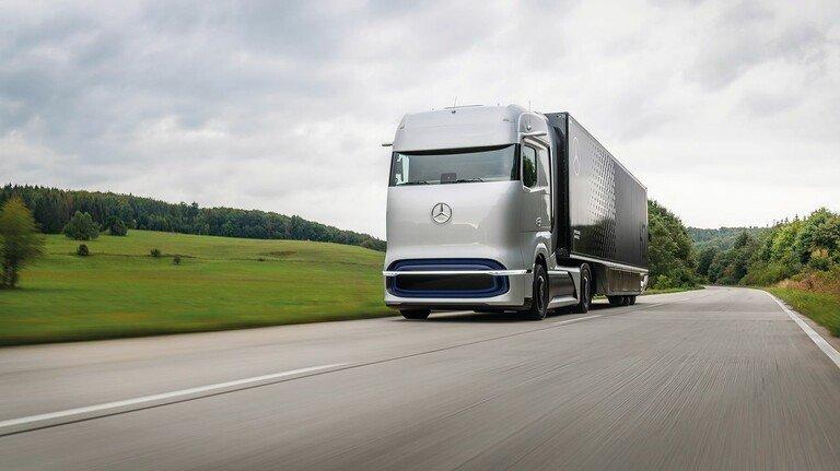 """Konzept: Der """"GenH2 Truck"""" von Mercedes-Benz soll in der zweiten Hälfte der 2020er Jahre in die Serienproduktion gehen."""