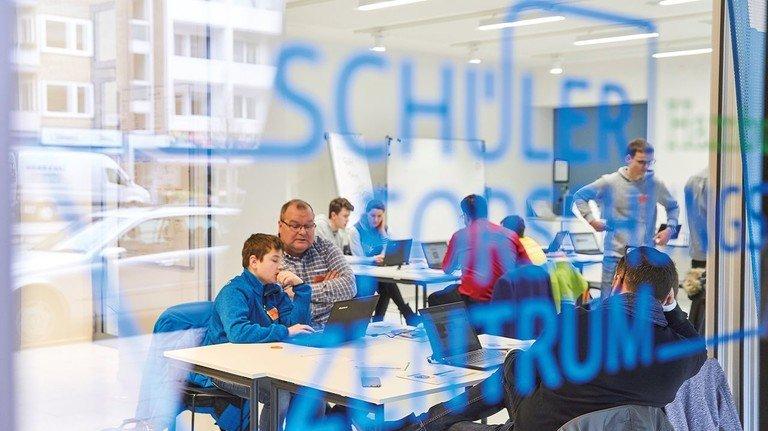 Perfekte Location: Das Schülerforschungszentrum liegt unweit der Hamburger Uni.