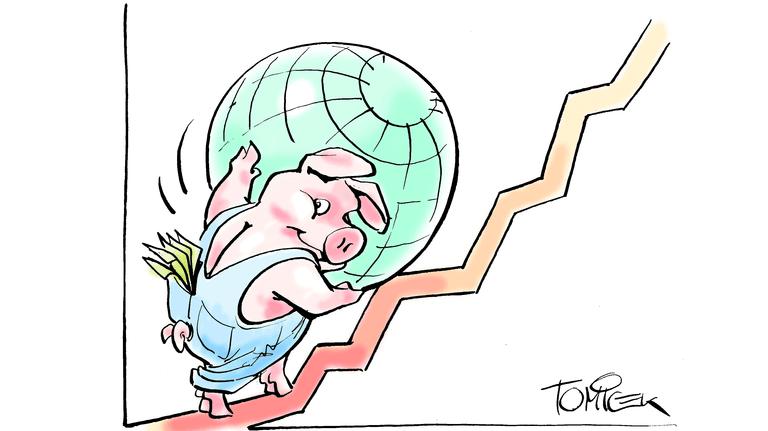 Globales Wachstum bringt Rendite: Breit aufgestellte ETF-Indexfonds streuen das Risiko.
