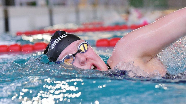 Sportlich: Lena Blasig begann schon als Kind mit dem Schwimmen und trainiert mehrmals pro Woche.
