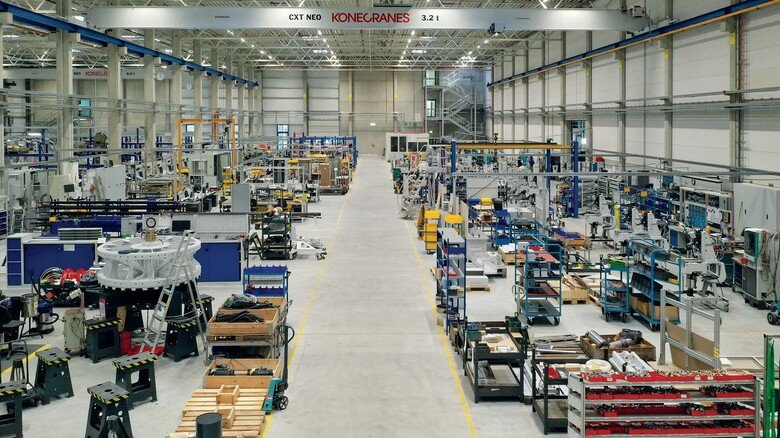 Blick in die Produktion: In dieser Halle werden die Anlagen von Desma montiert.