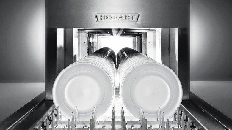 Für Restaurants und Kantinen: Hobart produziert gewerbliche Spülmaschinen.