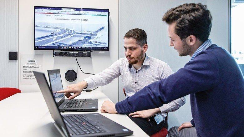 Karriere statt Krieg: Bei Bosch arbeitet er an Software-Lösungen fürs automatisierte Fahren.