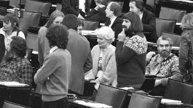 1983: Die Grünen ziehen in den Bundestag ein. Foto: dpa