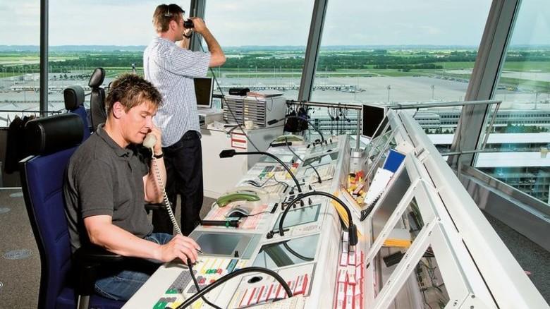 Flugsicherung: Auch hier sind Telekommunikationsnetze von Telent gefragt. Foto: DFS
