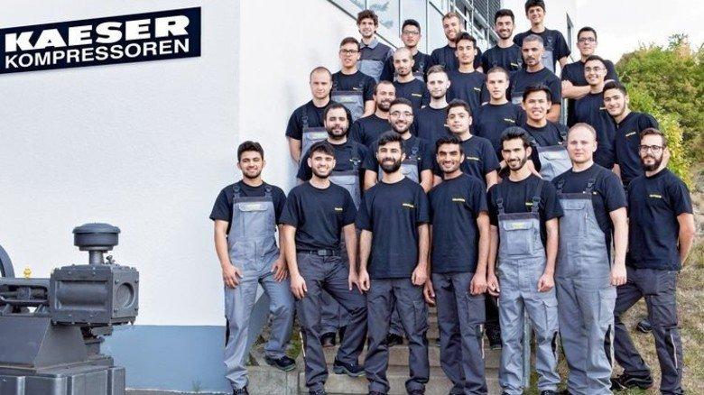 Engagiert: Kaeser hat zahlreiche Azubis aus dem Ausland eingestellt. Foto: Werk