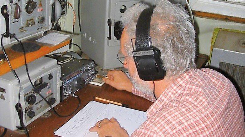 """Funkstation: So sah sie aus, an Bord des Frachters """"Dresden"""". Foto: Schiffbau- und Schifffahrtsmuseum"""