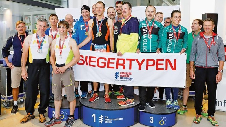 Erfolgreiche Triathleten: In Hamburg holte Still den ersten Platz. Foto: Still