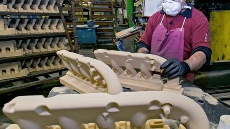 Sandguss: Bei diesem Verfahren wird eine Form aus Sand mit Bindemitteln hergestellt. Foto: Mierendorf