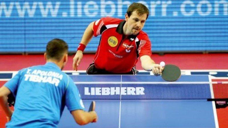 Tischtennis: Hier ist Liebherr mit am Ball und macht seinen Namen damit noch bekannter. Foto: dpa
