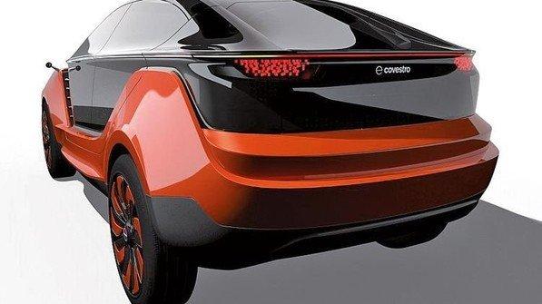Panoramablick und schicke Beleuchtung: Auto-Design von Covestro. Foto: Werk