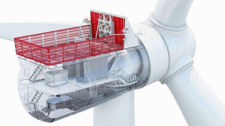 Stärkste Siemens-Turbine: Sie leistet achtMegawatt und wird seit einigen Wochen getestet. Foto: Siemens