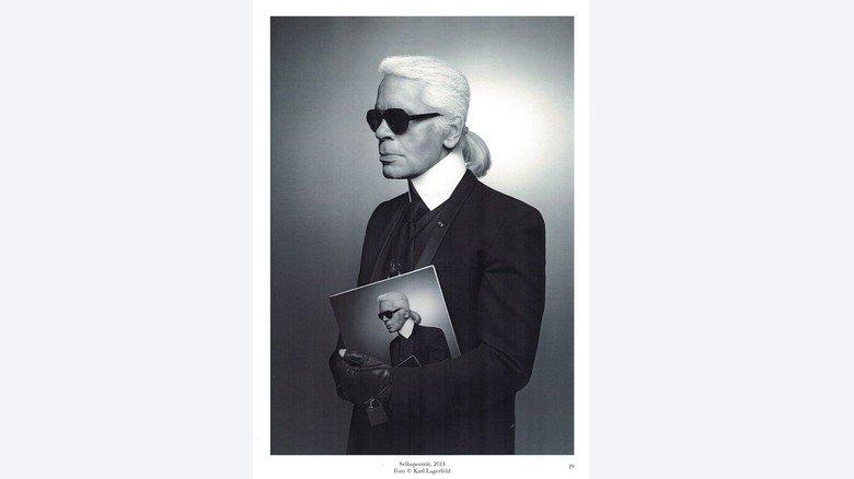 Lagerfeld-Foto: Selbstporträt, 2013.