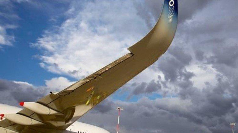"""Tragflächen: Gebogene Spitzen (""""Sharklets"""") verringern den Luftwiderstand. Foto: Werk"""