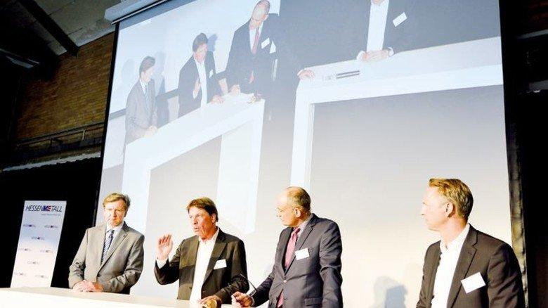 Impulsgeber: Winfried Holz, Peter Buxmann, Ingo Nathusius und Sven Mulder (von links). Foto: Scheffler