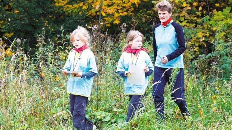 …und beim Sport mit ihren Töchtern Marlene und Julia. Foto: Seefeld